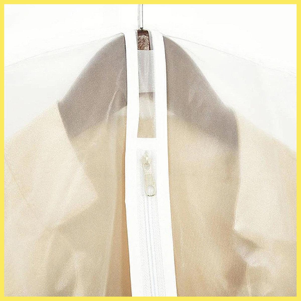 <5pcs>Zipped Suit Garment Covers 137cmx60cm