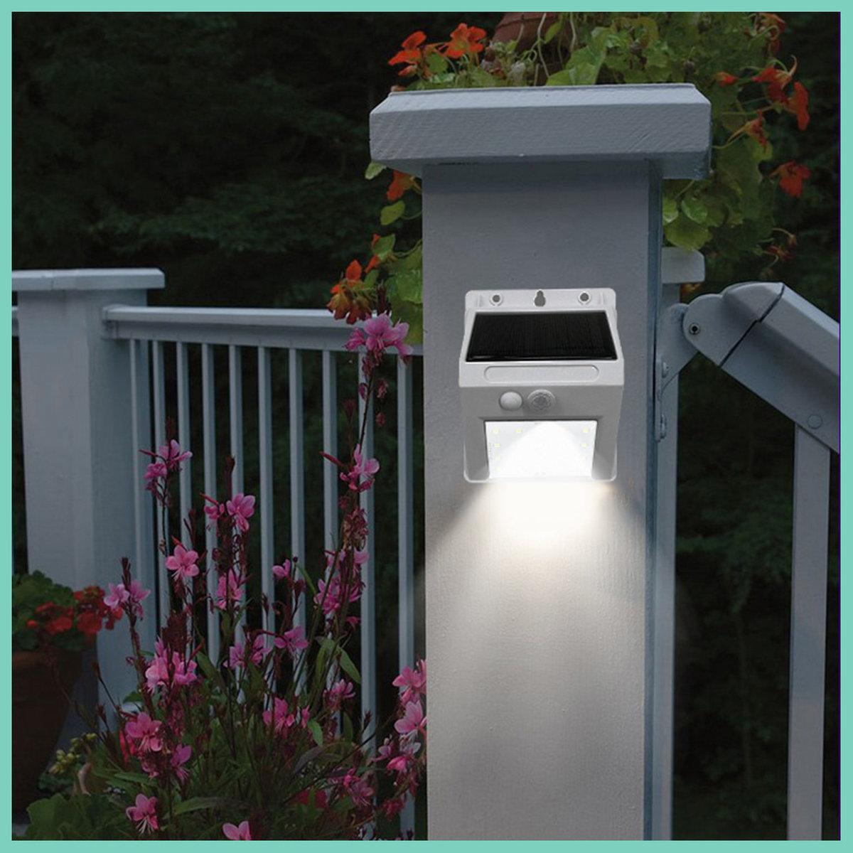 Solar-Powered Motion Sensor Security Light (White)