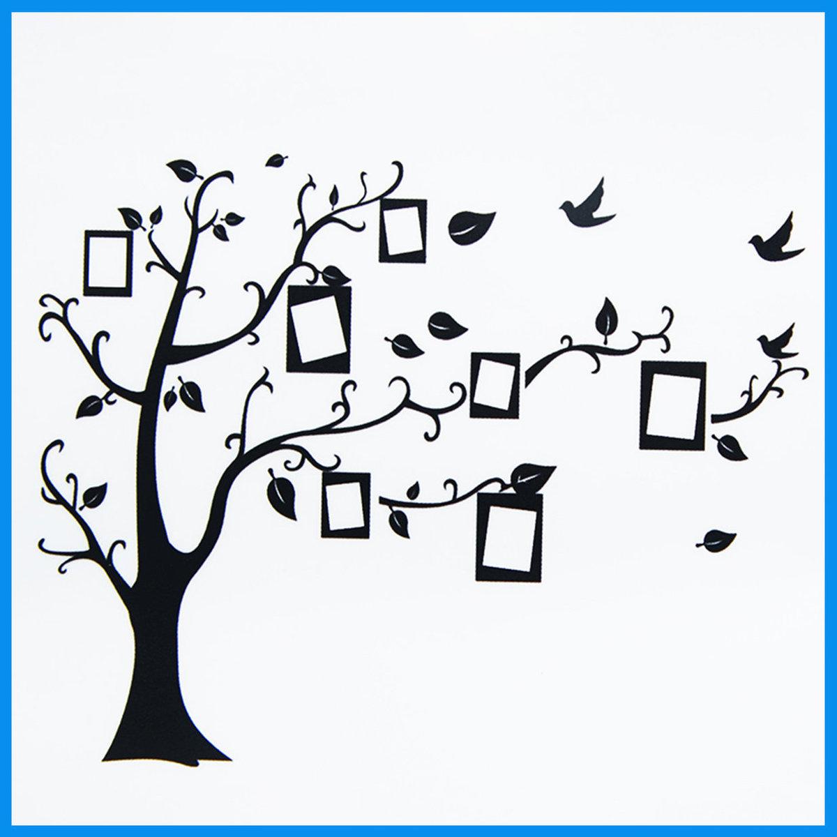 Family Tree Photo Gallery Wall Sticker