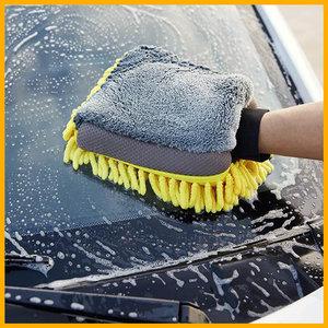 全城熱賣 2合1超細纖維海綿洗車手套-1隻