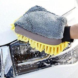 全城熱賣 2合1超細纖維海綿洗車手套-1隻 洗車 抹車 海綿 吸水不掉毛