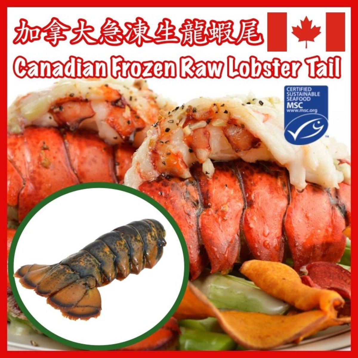 加拿大急凍生龍蝦尾,每隻約140克,每袋1隻