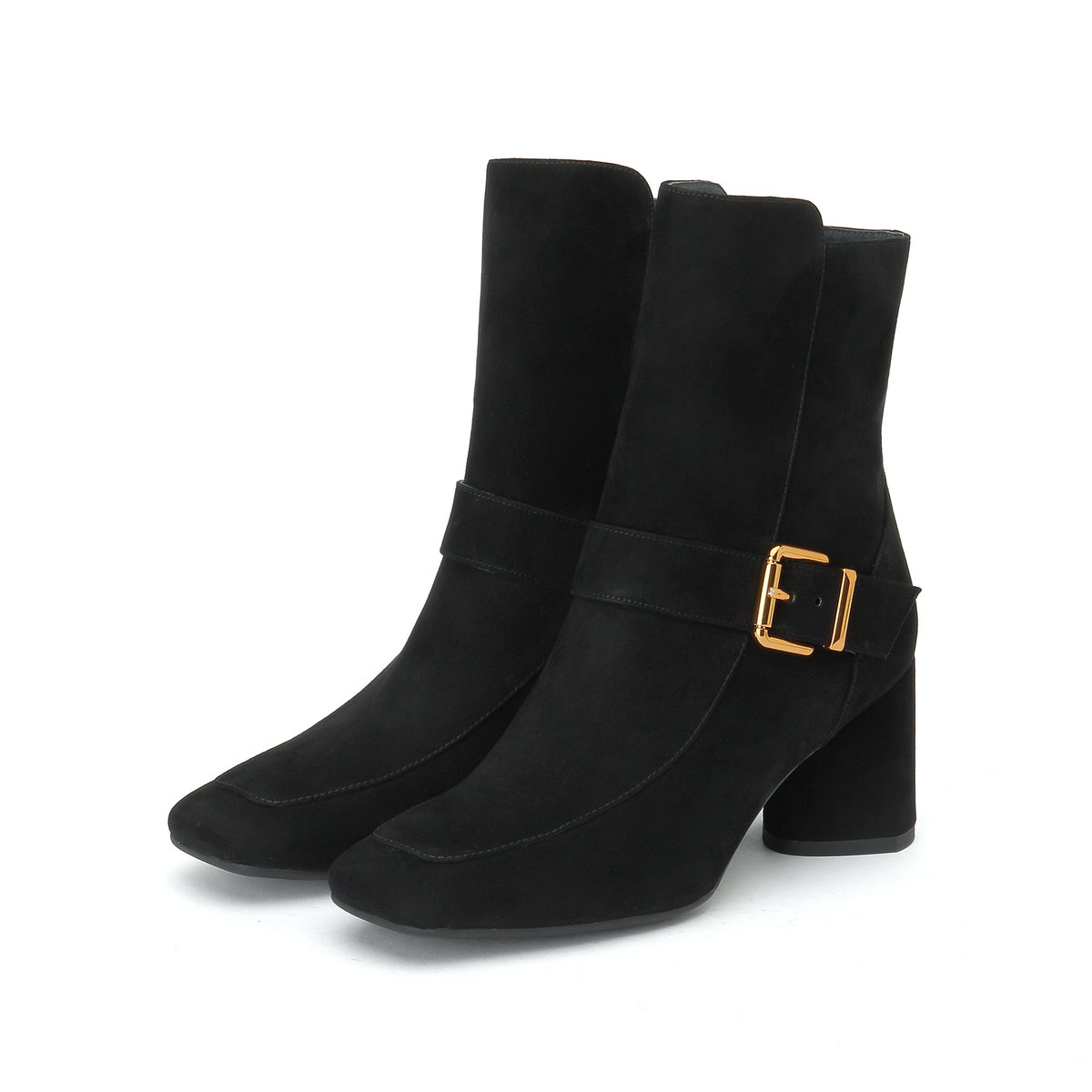 Suede Boots in Black