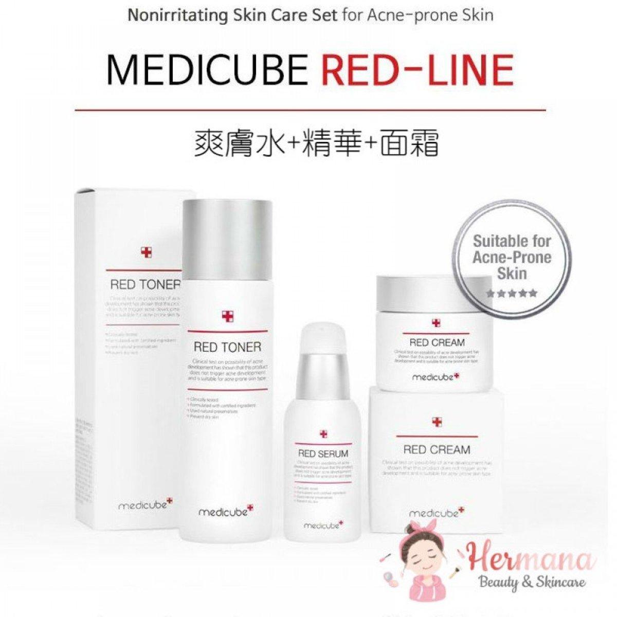 Medicube Red 舒緩抗痘修復3件優惠套裝