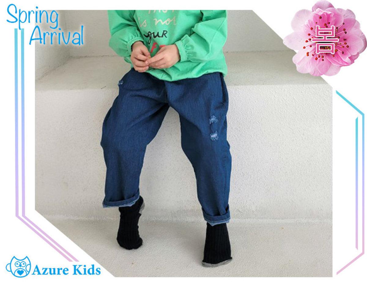 Korean washed color loose jeans