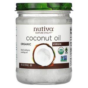 Nutiva Nutiva, 初榨有機椰子油,14 液量盎司(414 毫升)