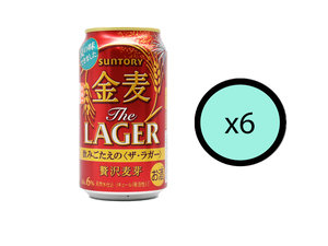 SUNTORY 【6件優惠裝】Suntory金麦贅沢麥芽 350ml【Parallel Import】