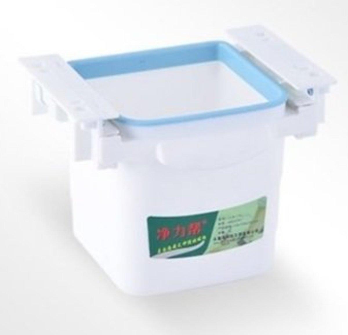 [白色] 創意可伸縮隱藏軌道抽屜/垃圾桶/枱底/隱藏式垃圾桶/櫃桶/收納
