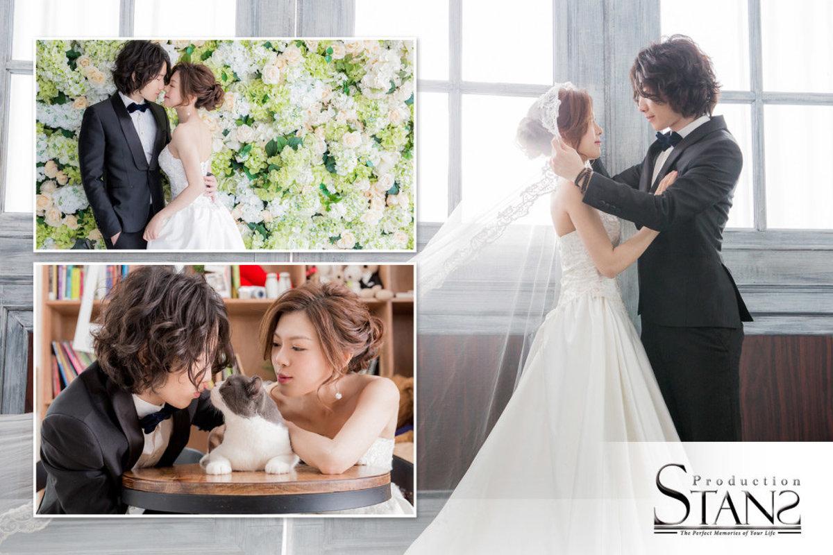 1 次 - 5 小時韓式影樓婚紗攝影套餐 / 家庭攝影套餐