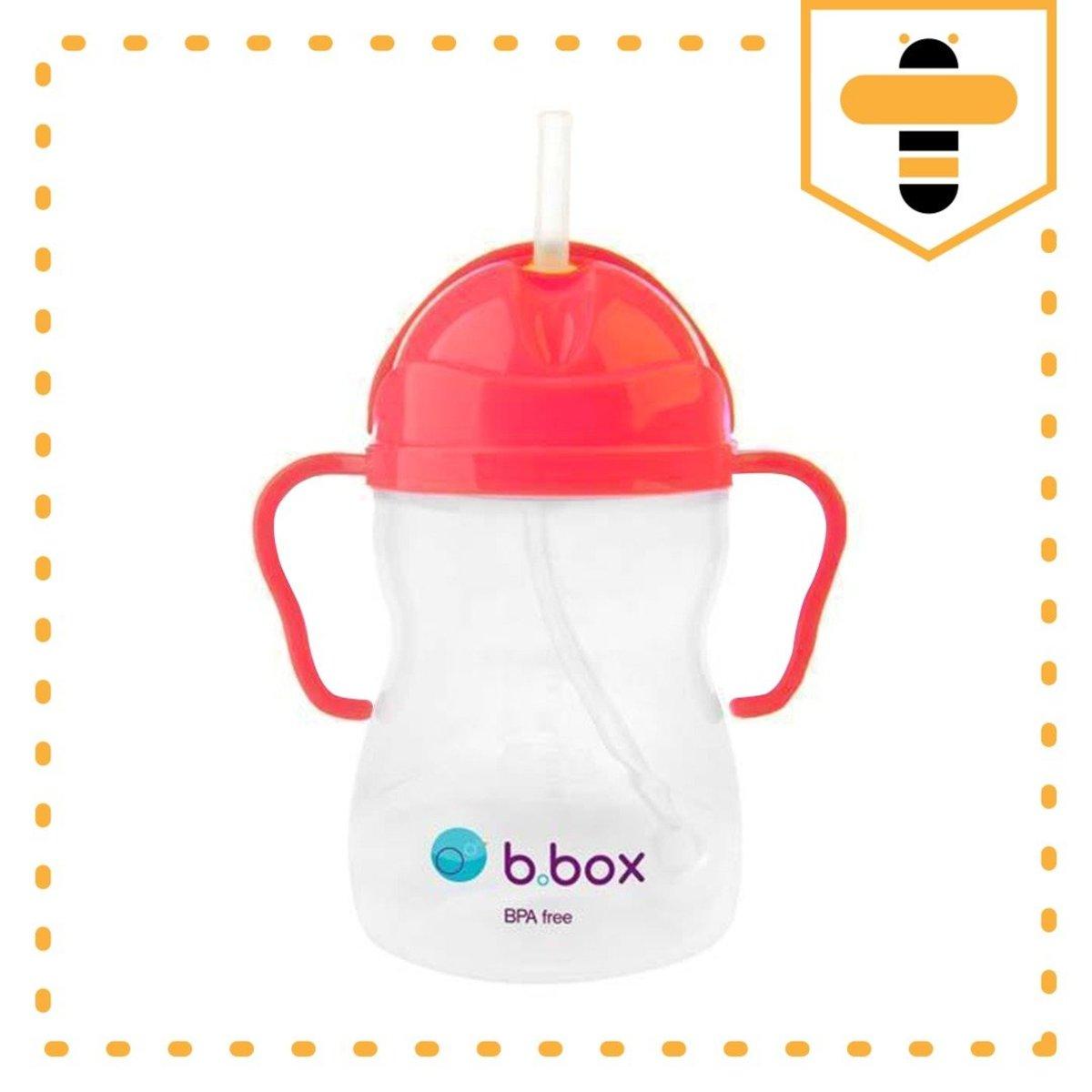 經典款第一代 |澳洲b.box 防漏吸管學飲水杯 - 西瓜紅色 (250ml)(6m+)(平行進口)