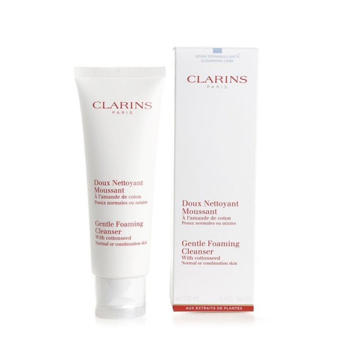 Clarins - Gentle Foaming Cleanser With Cottonseed (Normal or Combination Skin) 125ml  [Parallel Import]
