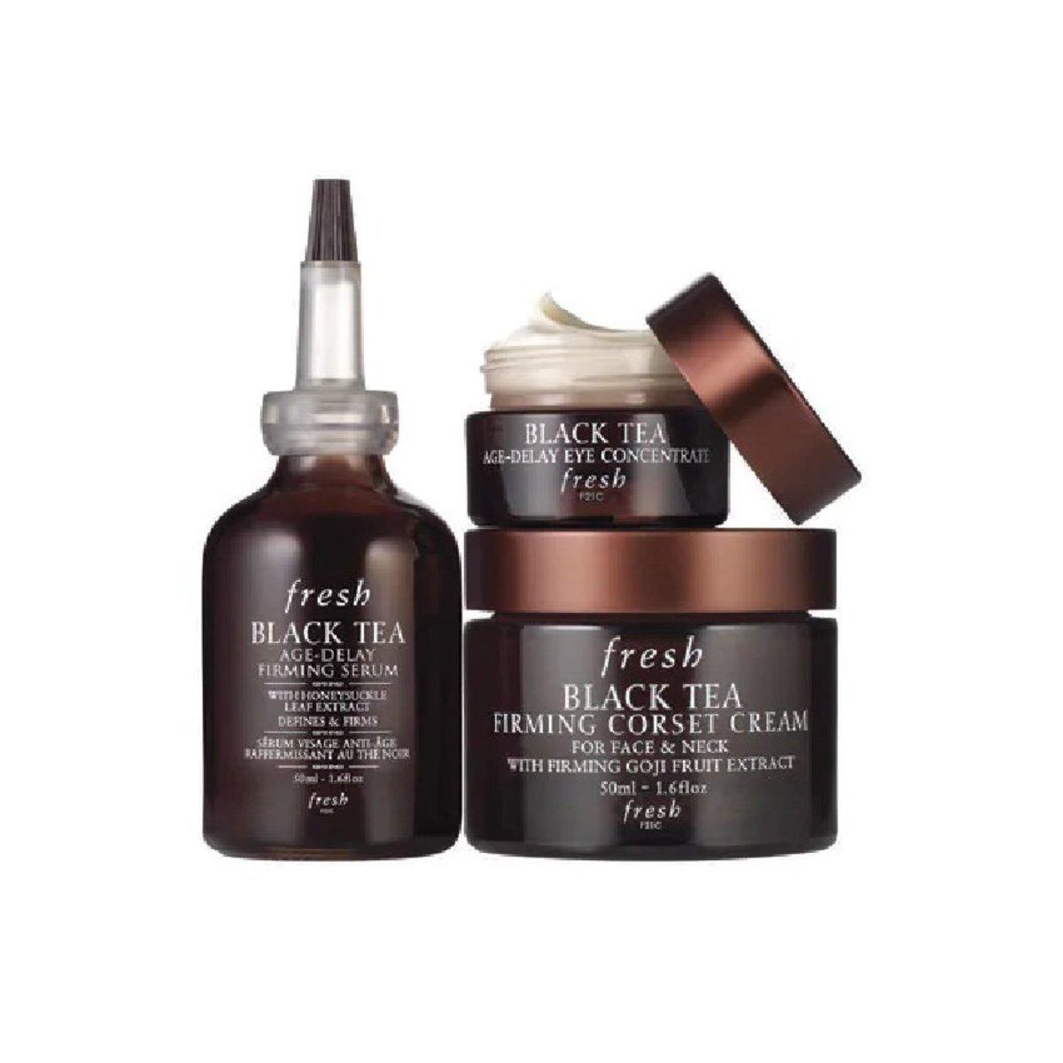 Fresh-Black Tea Basic Skin Care Set (Three Piece Set)  [parallel import]