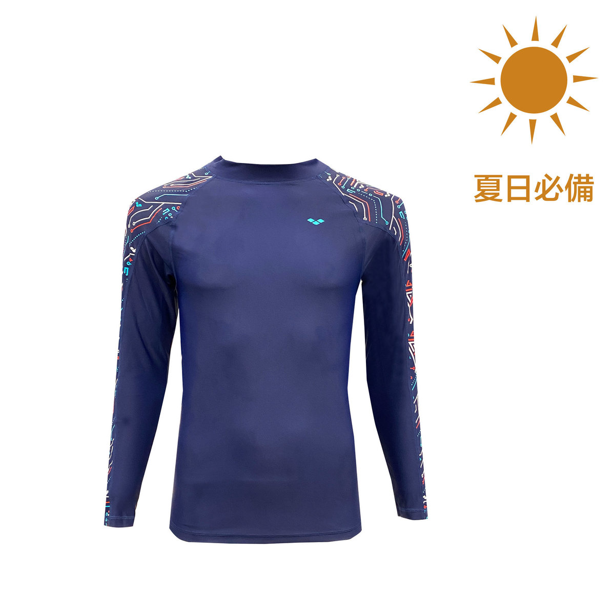SWIMWEAR Men's CIRCUITS LONG SLEEVE SUN PROTECTION UV PROTECTION