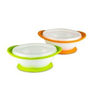 NUK NUK有蓋防滑碗兩個裝-6個月或以上使用