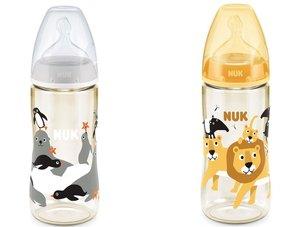 NUK NUK PCH+300ML6-18個月寬口ppsu奶瓶/矽膠奶嘴中孔--灰色