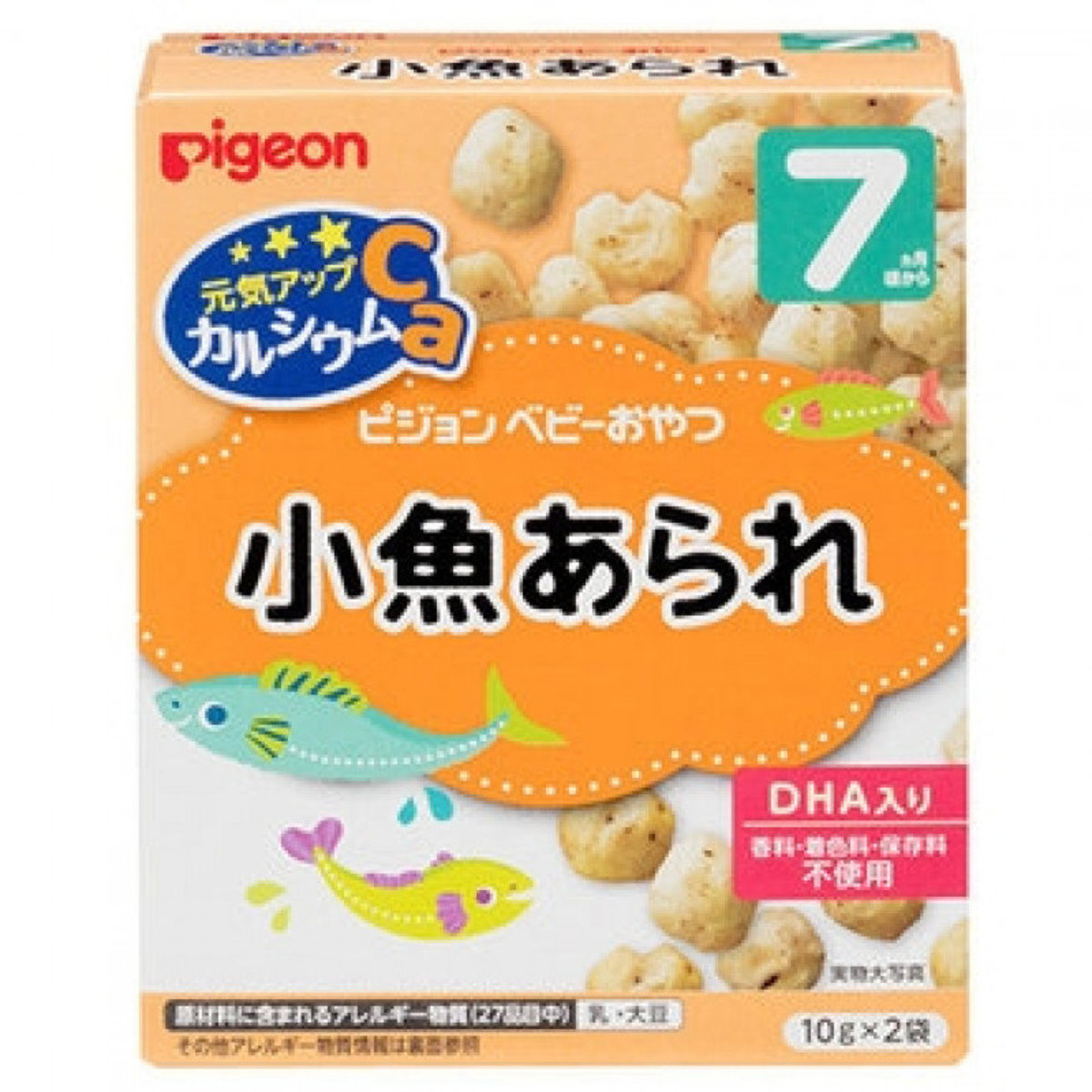 PIGEON DHA Poppy Rice Cake 20g for infants 7 months or older