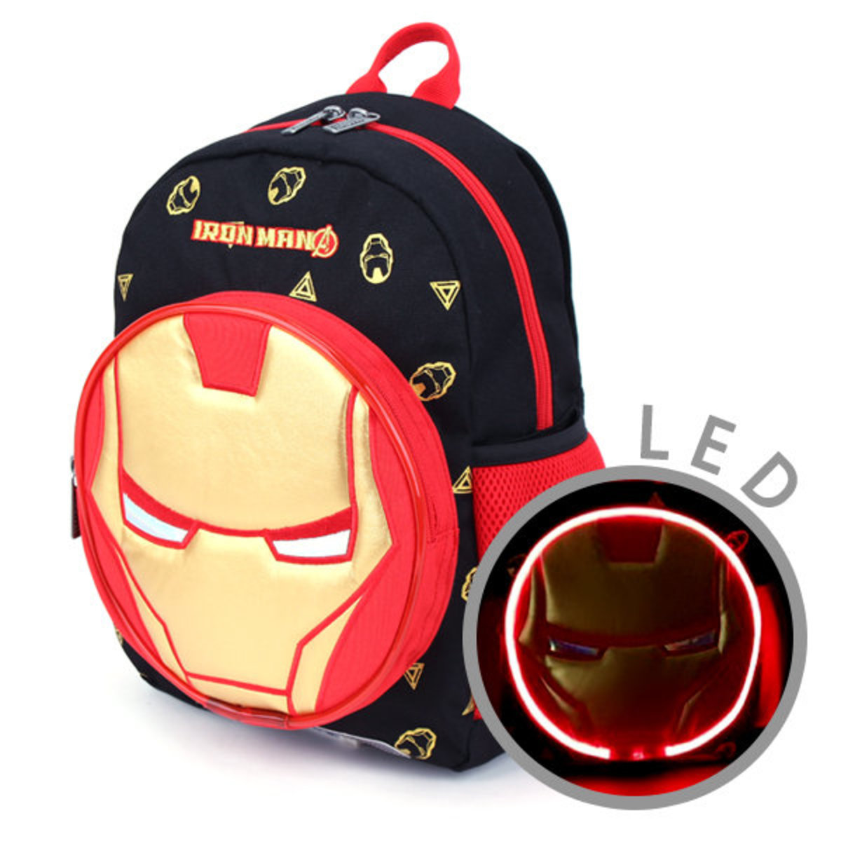MARVEL Iron Man LED Flashing Light Backpack