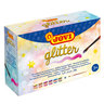 GLITTER Poster paint box 6 jars 55ml assorted colours (Include one brushes)