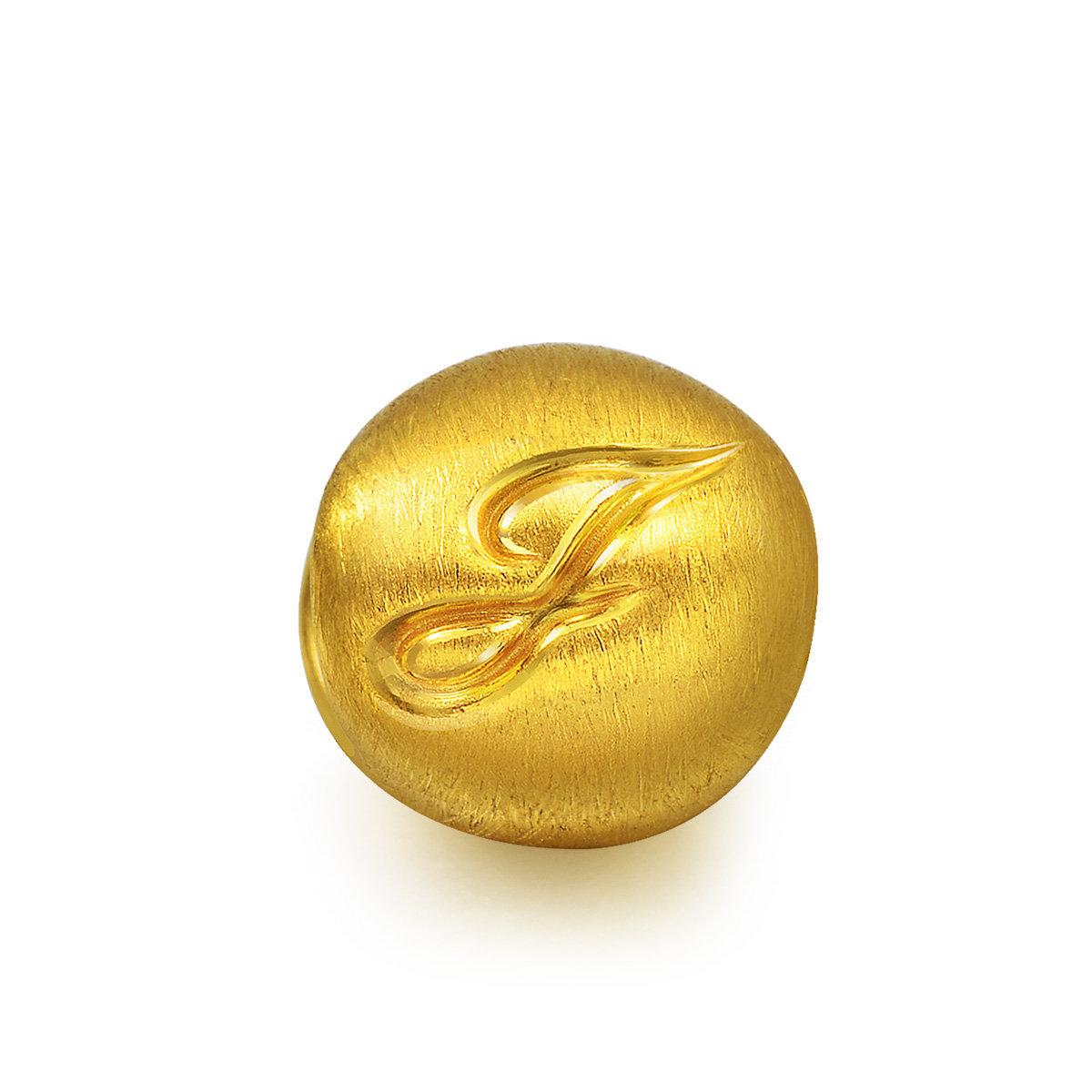 Charme 'Alphabets' 999 Gold Letter J Charm (Bracelet not included)