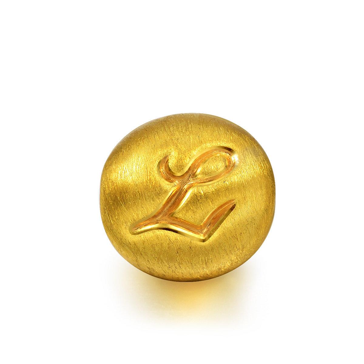 Charme 'Alphabets' 999 Gold Letter L Charm (Bracelet not included)