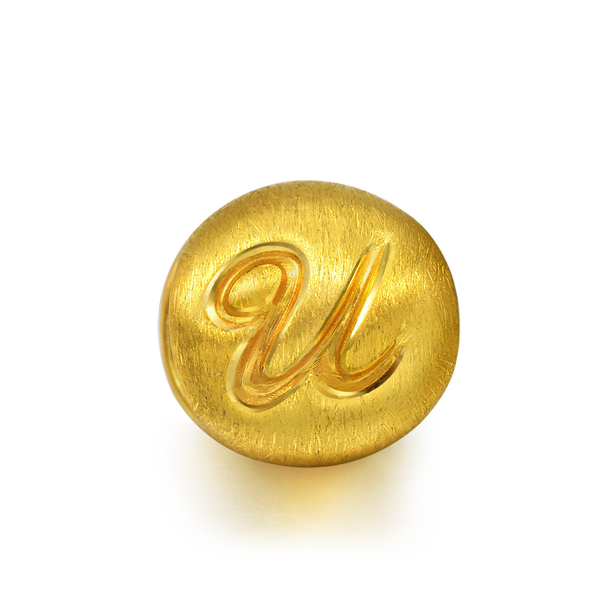 Charme 'Alphabets' 999 Gold Letter U Charm (Bracelet not included)