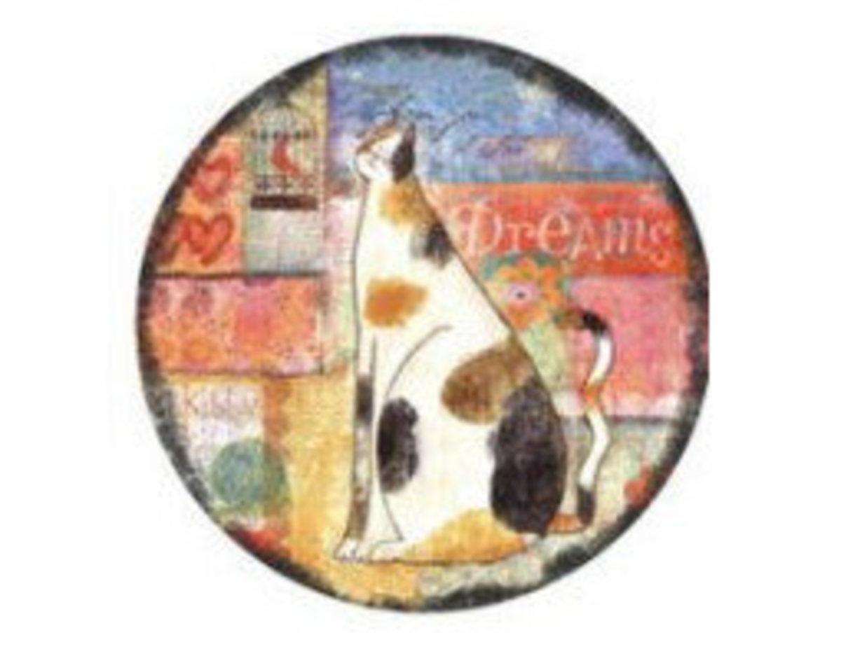 陶瓷貓咪碗盤鍋墊(花貓)