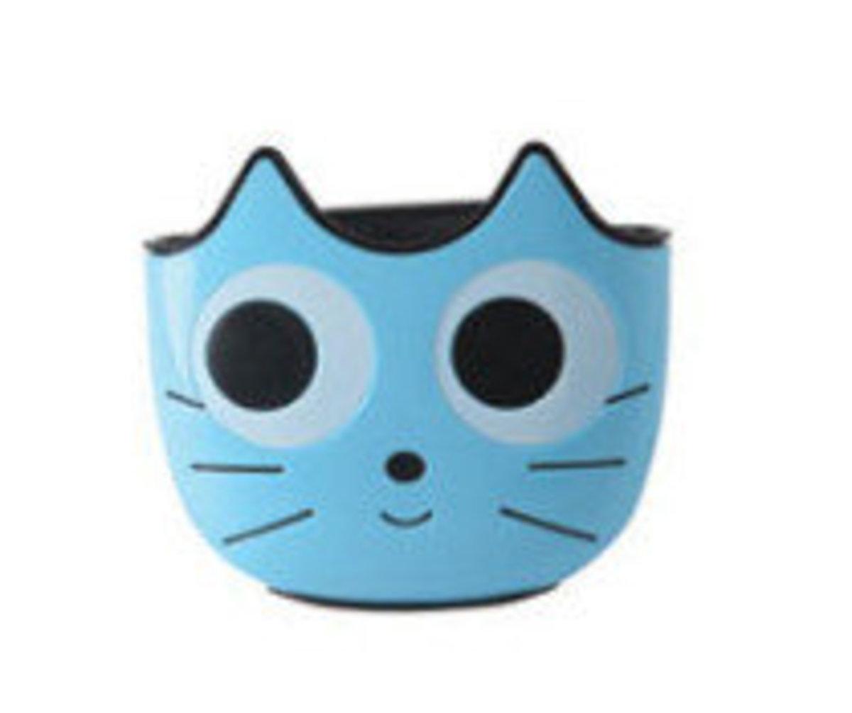 水槽瀝水貓咪挂袋(藍色)
