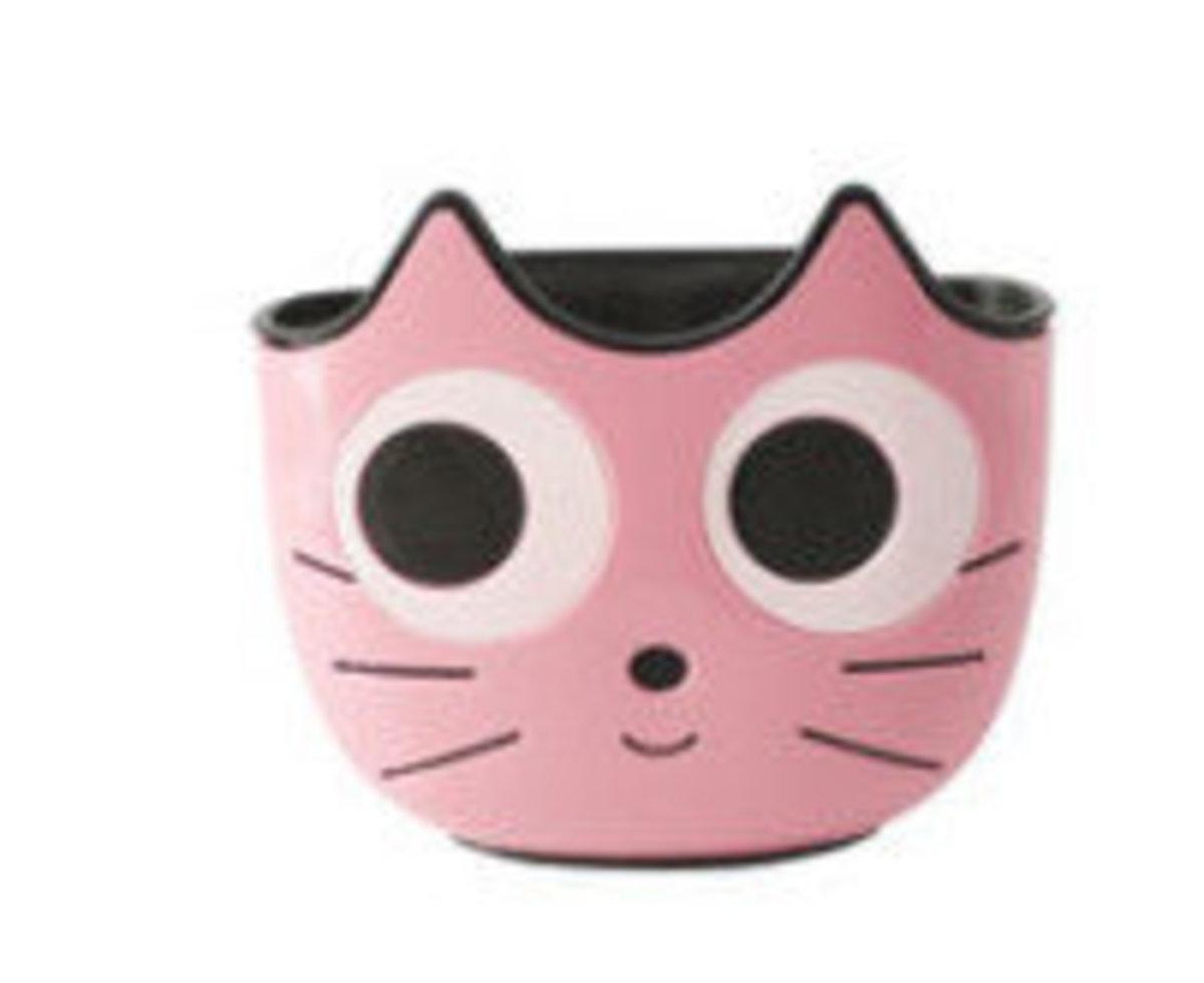 水槽瀝水貓咪挂袋(粉色)