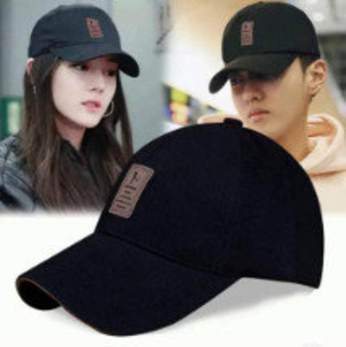男女韓版棒球防晒帽(黑色)