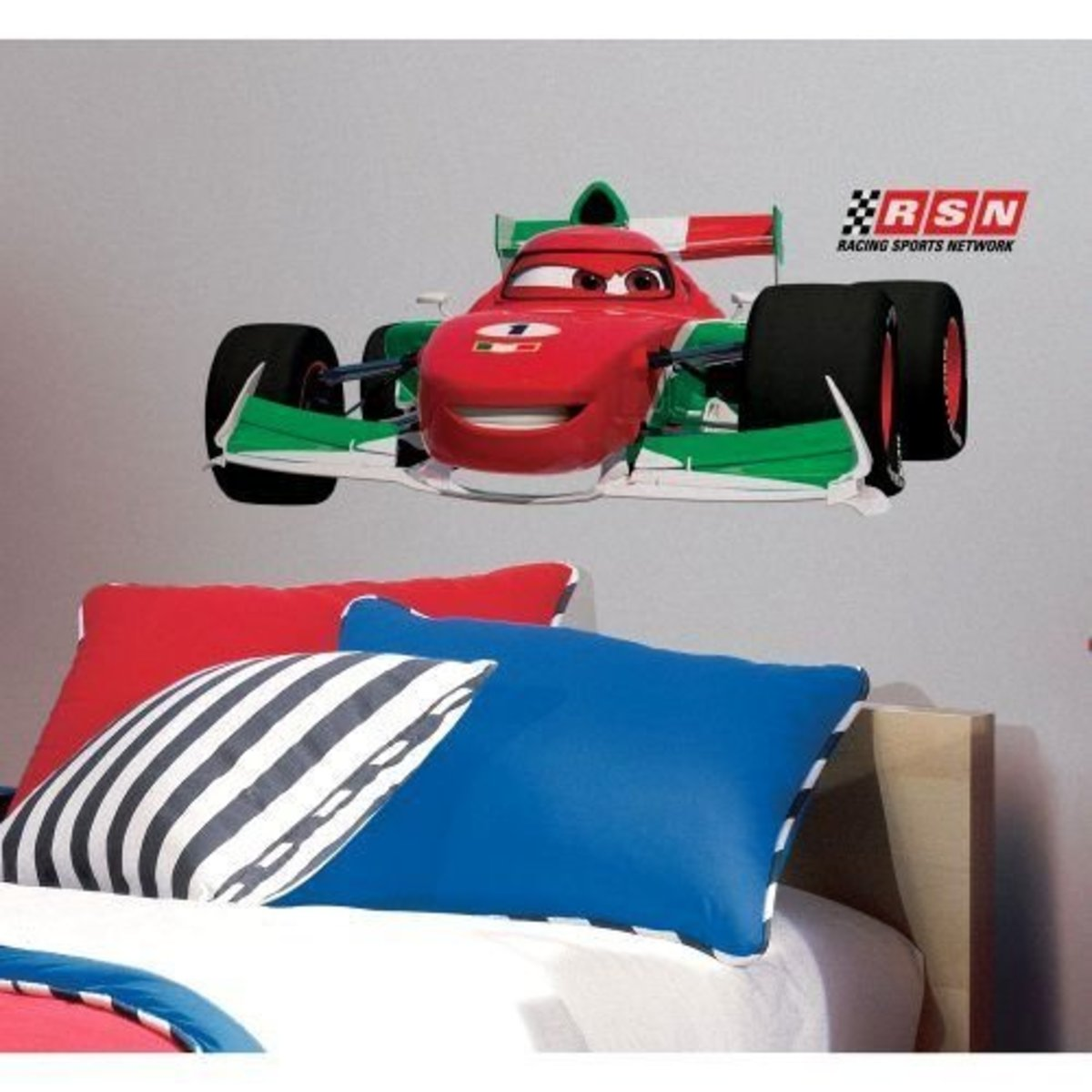 Cars-2 Francesco Peel And Stick Giant Wall Decal