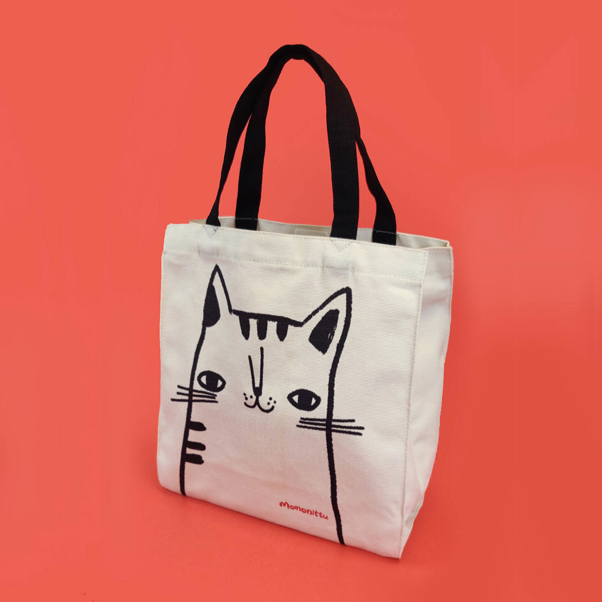 Tote Bag with a Cat print