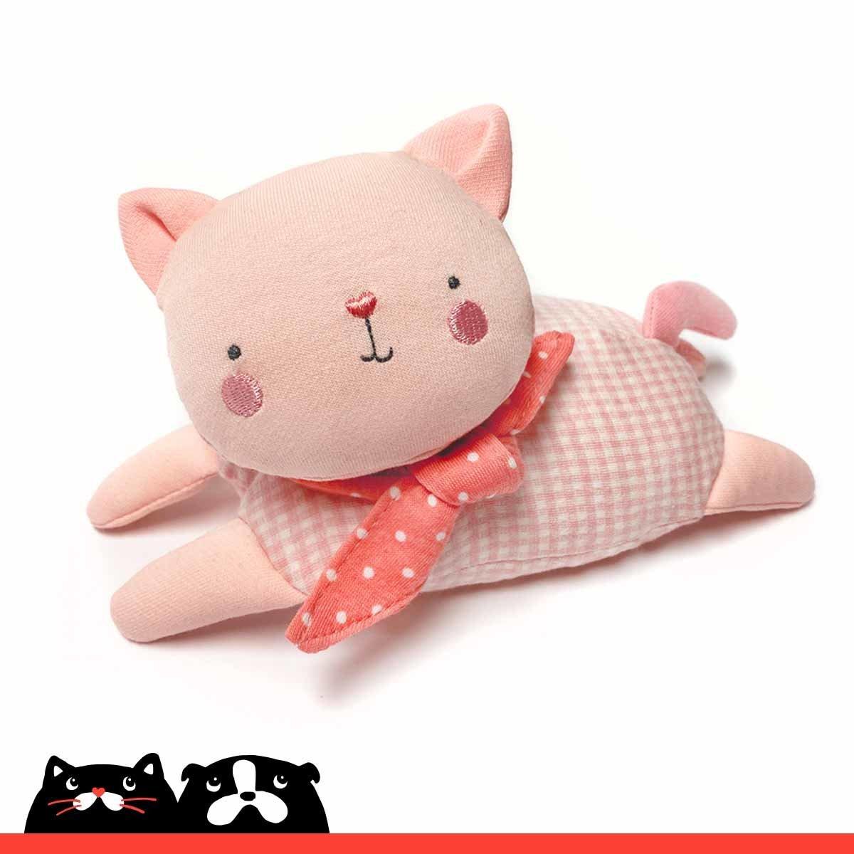 Small Pink Bean Bag Kitten Soft Toy