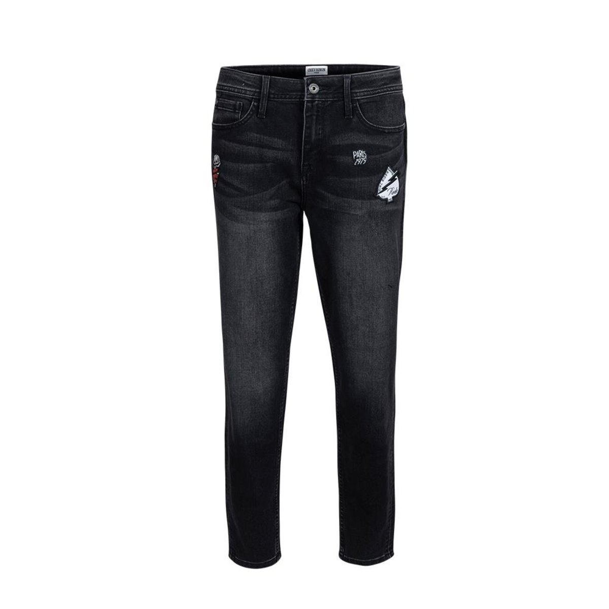 Ladies' Coolmax Comfort Taper Ankle-length Washed Jeans