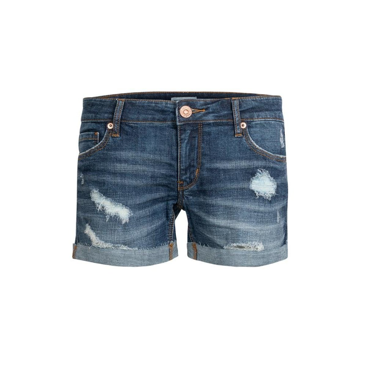 Ladies' Ripped Washed Denim Shorts