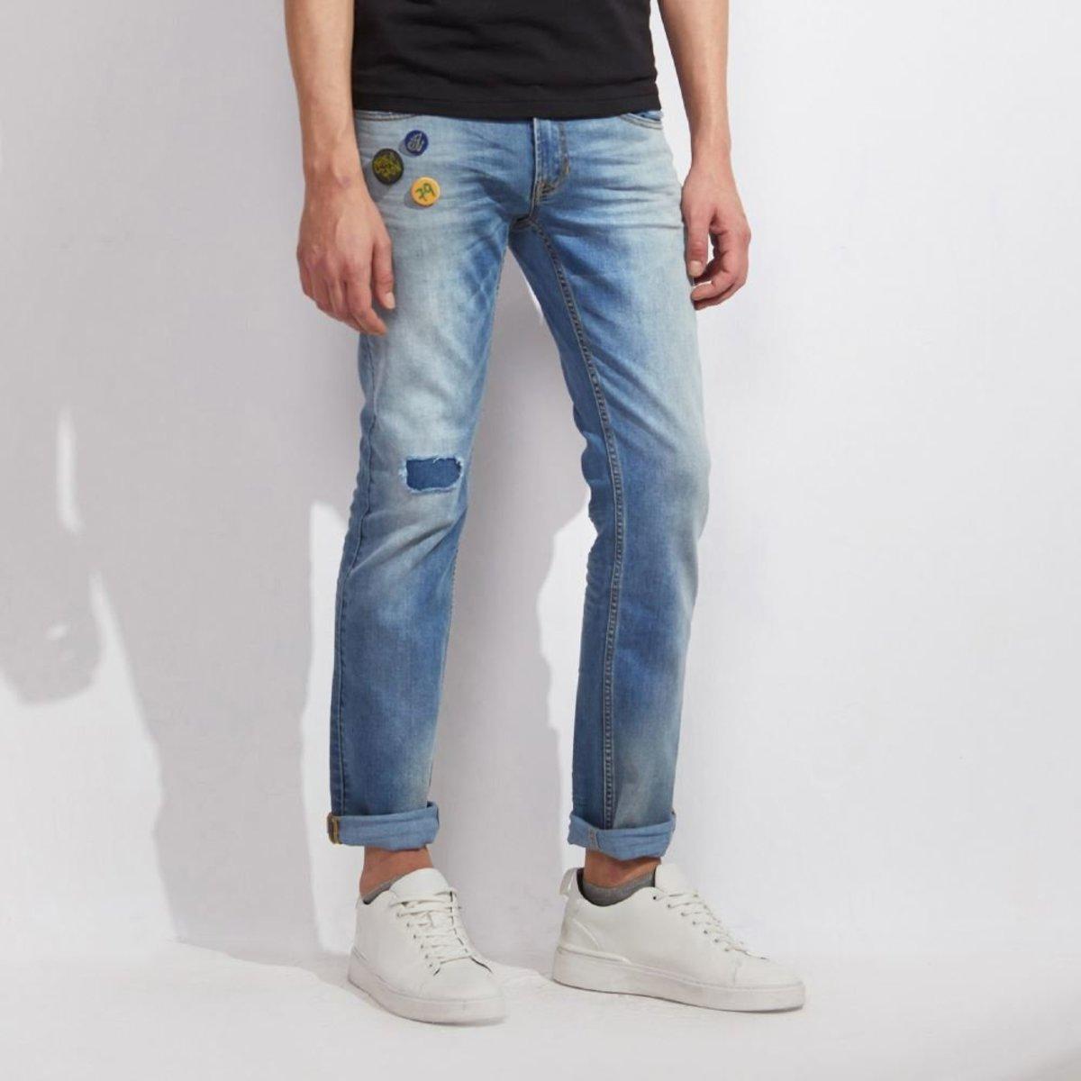 男裝Coolmax修身直腳洗水牛仔褲