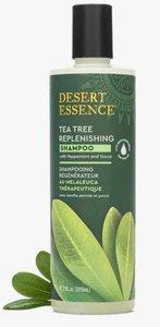 Desert Essence Tea Tree Replenishing Shampoo, 12.9 fl oz (375 ml) New Version 2020