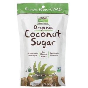 NOW FOODS 有機天然椰子糖 454克  (天然/代替砂糖/而且擁有營養)椰子糖具有天然的維他命,礦物質和氨基酸