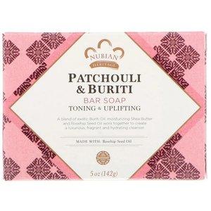 NUBIAN HERITAGE Patchouli & Buriti Soap , 5 oz / 141 g