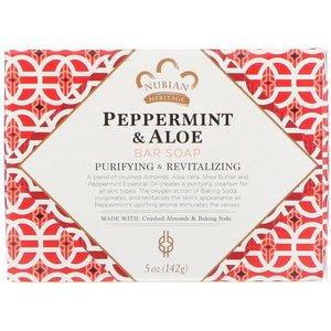 NUBIAN HERITAGE Peppermint & Aloe Bar Soap, 5 oz (142 g)