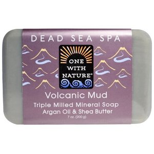 One with Nature Triple Milled Mineral Soap, Volcanic Mud, 7 oz (200 g)