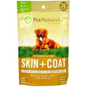 Pet Naturals of Vermont 專利狗狗美毛咀嚼片30片60克 適合所有體型大小的狗 美國Pet Naturals®專利配方