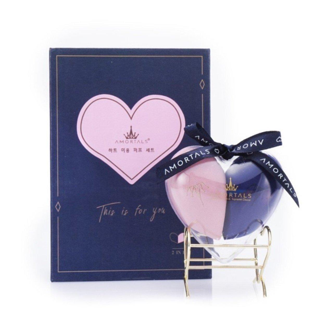 Beauty Blender Set  (Blue + Pink)2pcs (Parallel Imports)