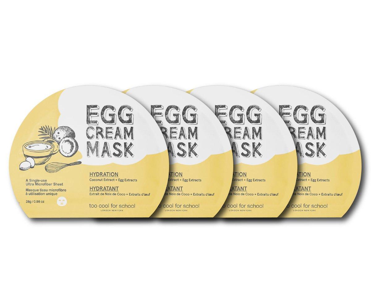 Egg Cream Mask Hydration (Yellow) 1pc 28g * 4Pcs [Parallel Import]
