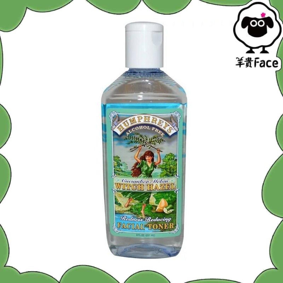 Redness Reducing Facial Toner, Cucumber Melon Witch Hazel, Alcohol Free, 8 fl oz (237 ml)