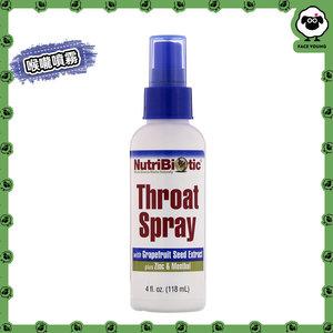 NutriBiotic Throat Spray with Grapefruit Seed Extract plus Zinc & Menthol, 4 fl oz (118 ml)