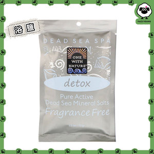 One with Nature 100% Pure Active Dead Sea Minerals Salts, Detox, Fragrance Free , 2.5 oz (70 g)