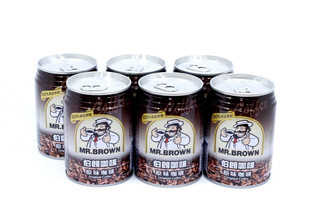 伯朗咖啡 - 罐裝 原味咖啡 240ml x 6 罐