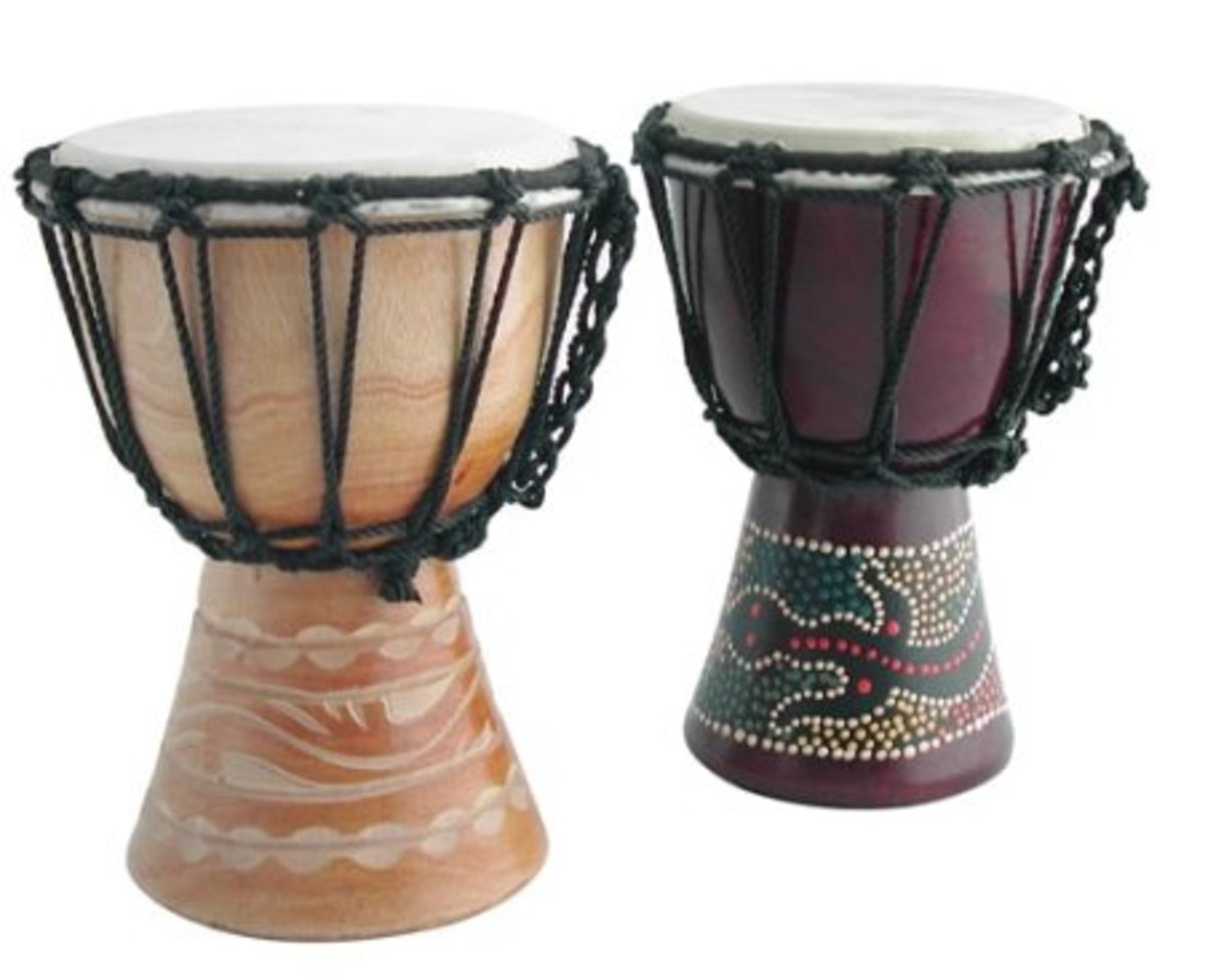 Carved Djembe Drum 15cm x1