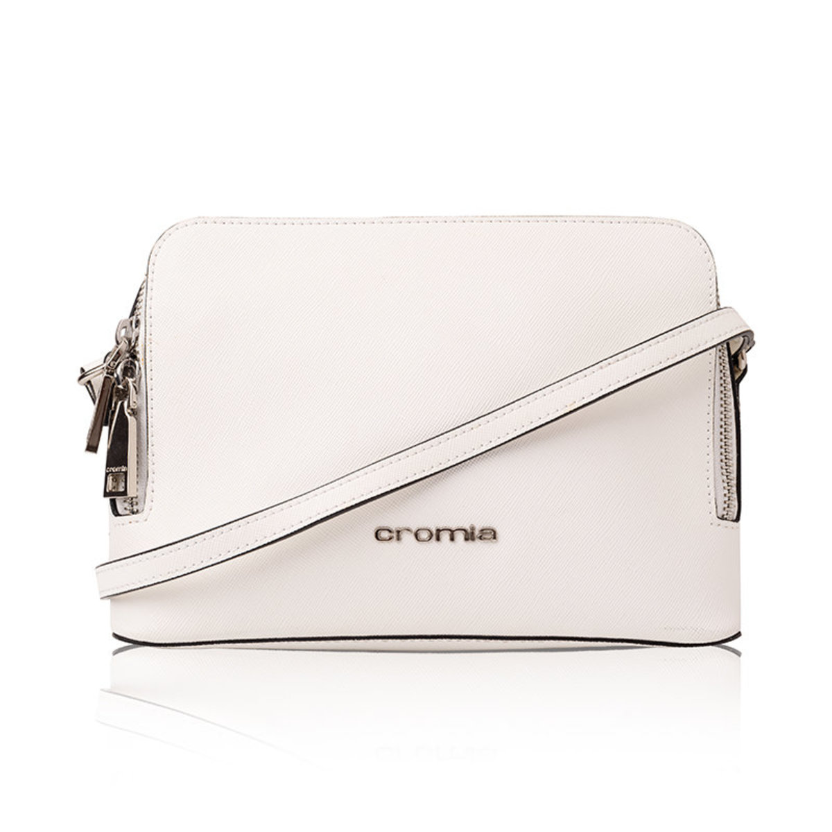 Leather Cross Body Bag (BIANCO)