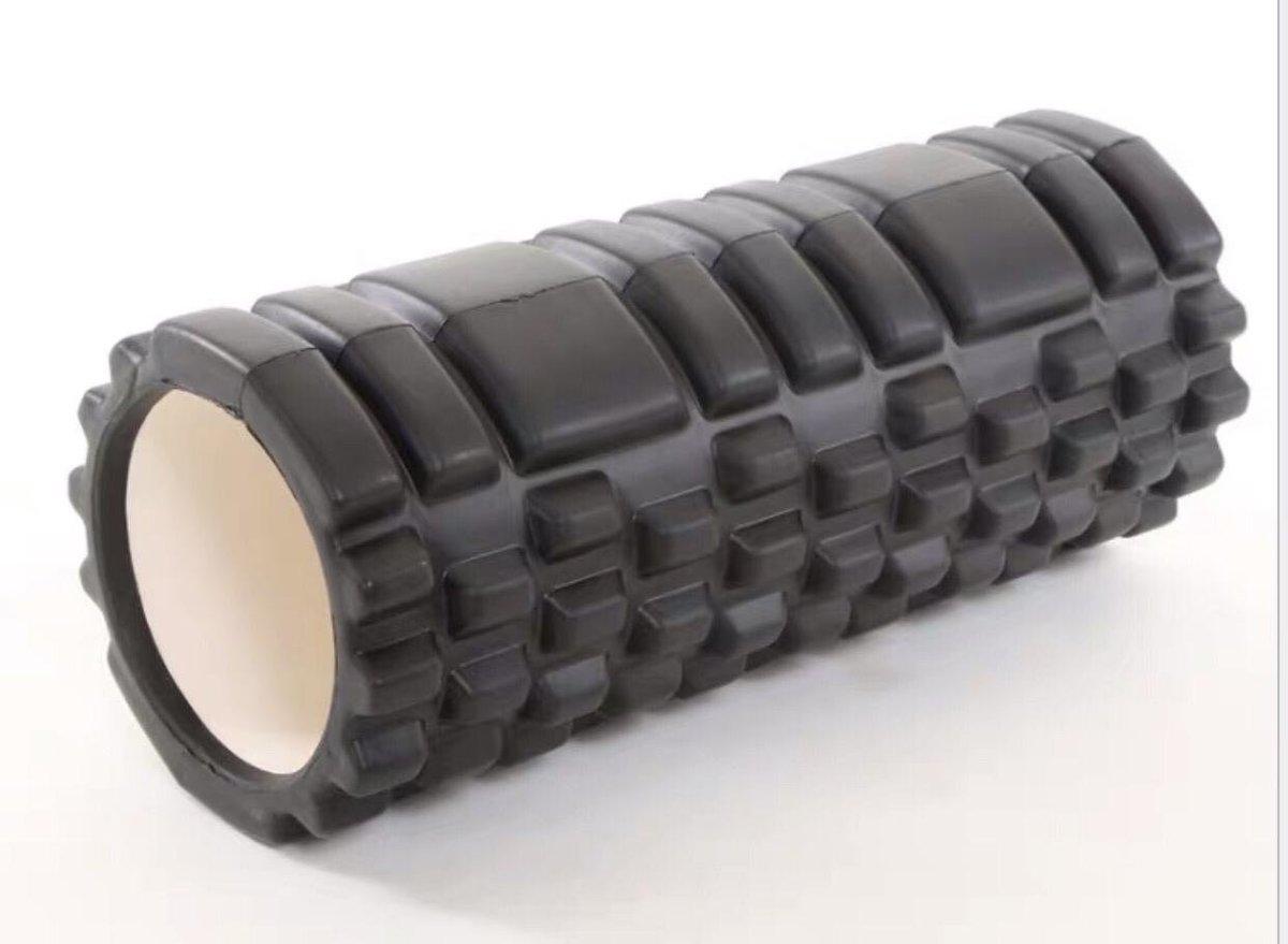 空心瑜伽柱 筋膜放鬆按摩健身滾筒【黑色】